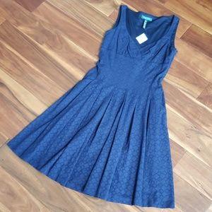 NWT Ralph Lauren women's Cotton Lace dress 8 Navy